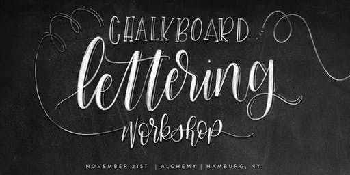 Chalkboard Handlettering Workshop | Hamburg, NY