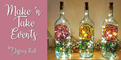 Make 'n Take - Stained Glass Wine Bottle - Rose tickets