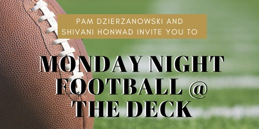 Sand Sister's Guest Bartending & Monday Night Football at The Deck