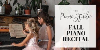 The Piano Studio's Fall Piano Recital