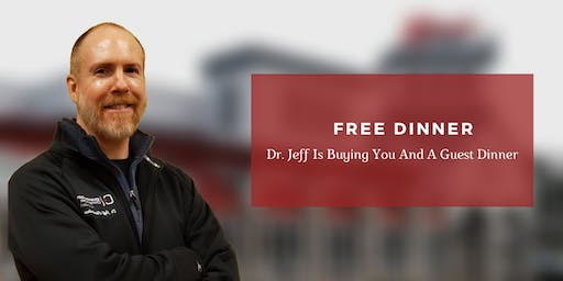 Solving Pain Naturally  FREE Dinner Event with Dr. Jeff Chamberlain, DC
