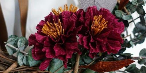 Paper Flower Fall Wreath Workshop