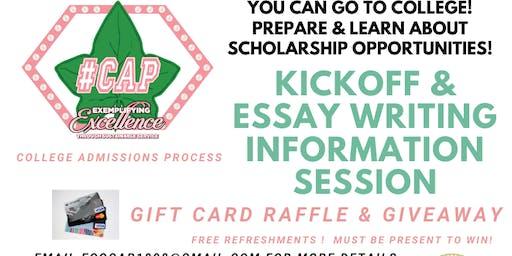 #CAP Essay Writing Workshop & Kick-off