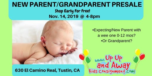 POP-UP EVENT Up Up And Away Kids FREE New Parent/GrandParent PreSale