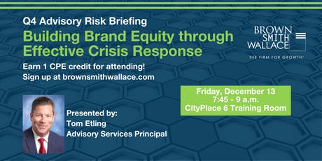 Building Brand Equity through Effective Crisis Response tickets