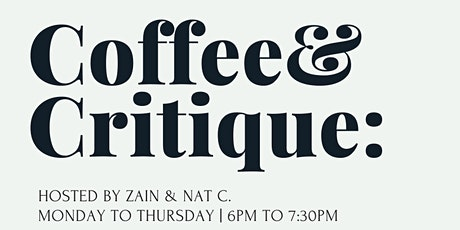 Coffee & Critique tickets