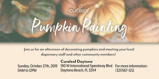 Curaleaf Daytona: Pumpkin Painting