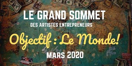 LE GRAND SOMMET DES ARTISTES ENTREPRENEURS 2020 tickets