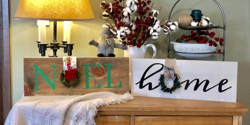 Farmhouse Sign and Sip Event
