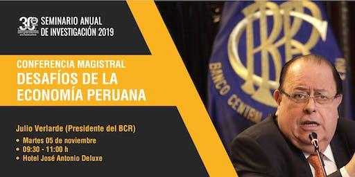 Conferencia Magistral: Desafíos de la economía peruana