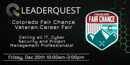 Colorado Fair Chance Veteran Career Fair