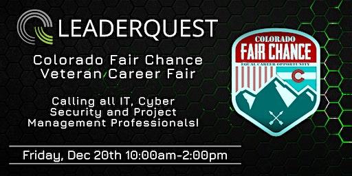 Colorado Fair Chance Veteran Career Fair