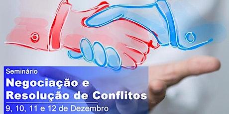 Seminário de Negociação e Resolução de Conflitos ingressos
