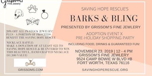 Barks & Bling Adoption Event