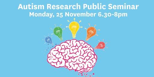 Autism Research Public Seminar