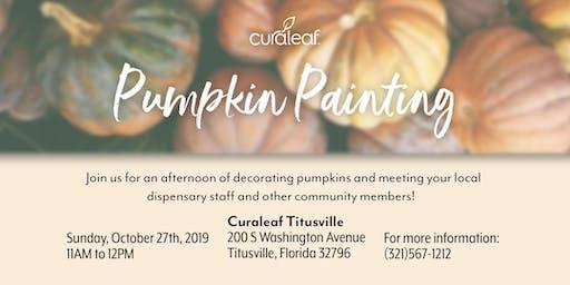 Curaleaf Titusville: Pumpkin Painting