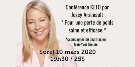 SOREL - Conférence KETO - Pour une perte de poids saine et efficace!  billets