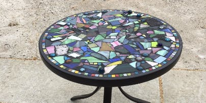Beginners Mosaic Class ~ Stepping Stone, Table, Mailbox, House Numbers, Pot, Orbs