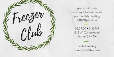 Freezer Club-January