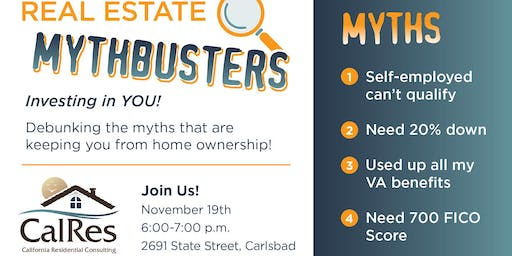 MYTHBUSTERS:  Homebuyers Edition