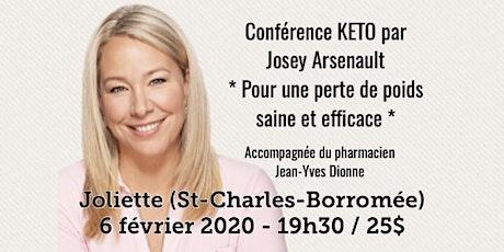JOLIETTE - Conférence KETO - Pour une perte de poids saine et efficace!  billets
