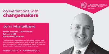 Conversations with Changemakers presents John Montalbano tickets