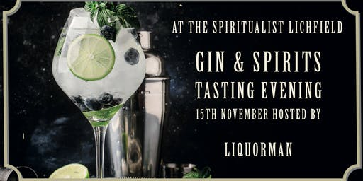 Gin and Spirits Tasting