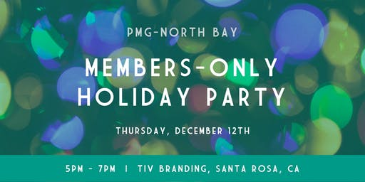 PMG Members-Only Holiday Party