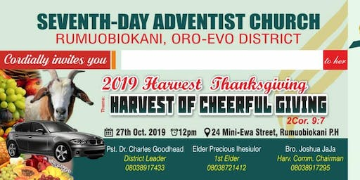 2019 HARVEST THANKSGIVING - HARVEST OF CHEERFUL GIVING