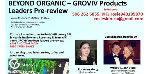 BEYOND ORGANIC - GROVIV Products Leaders Pre-review