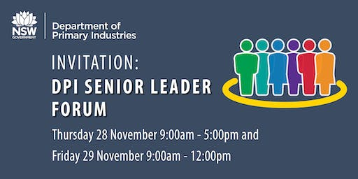 DPI Senior Leader Forum - November  2019