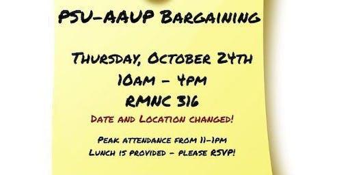 PSU-AAUP Bargaining - October 24th (Thursday)