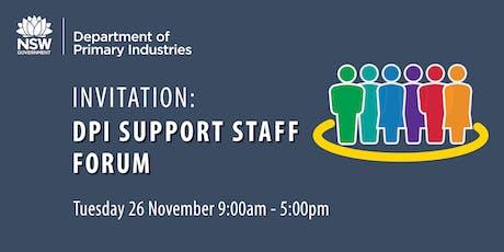 DPI Support Staff Forum - November 2019 tickets