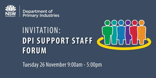 DPI Support Staff Forum - November 2019