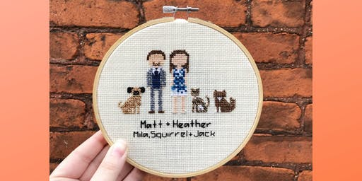 Family Portrait Cross Stitch Workshop (Ages 16+ years old)