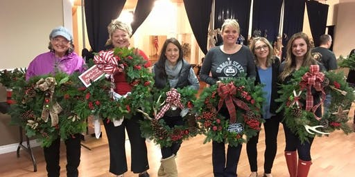 Two Girls Catering Wreath Making Party: 1:30-3:30pm session