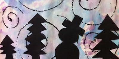 Kids Painting Class - Winter Silhouettes