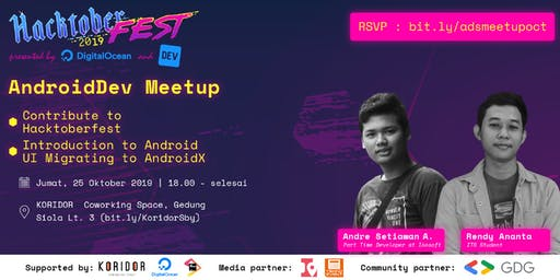 AndroidDev SBY Meetup : AndroidX & Hacktoberfest