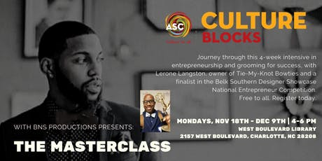 THE MASTERCLASS: Entrepreneurship & Grooming for Success  tickets
