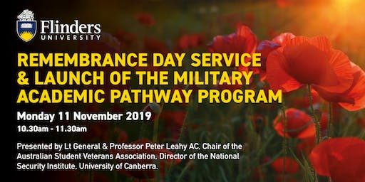 Remembrance Day Service & Launch of the Military Academic Pathway Program