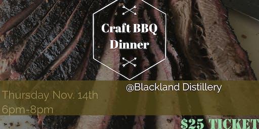 Craft BBQ Dinner at Blackland Distillery