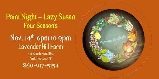 Paint Night On the Farm - Lazy Susan 4 Seasons