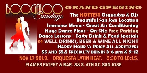 SALSA PARTY! Grand Opening - Boogaloo Sundays @ FLAMES