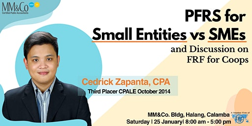 PFRS for Small Entities vs SMEs and Discussion on FRF for Coops