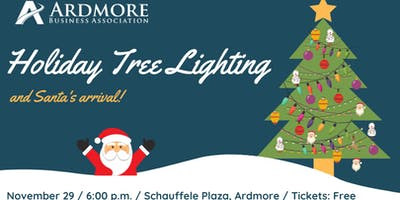 Holiday Tree Lighting and Santa's Arrival