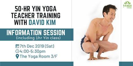 YogaWise 50-hr Yin Yoga Training - Information Session with David Kim tickets