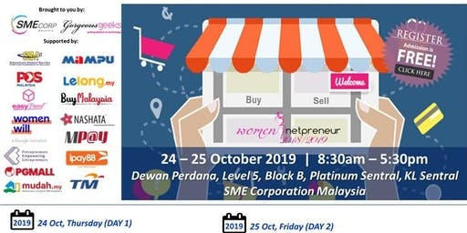 Women Netpreneur eCommerce Adoption Session (Kuala Lumpur): October 2019