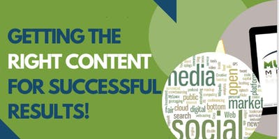 Getting the right content for successful results!