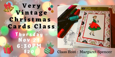 Very Vintage Christmas Cards Class tickets