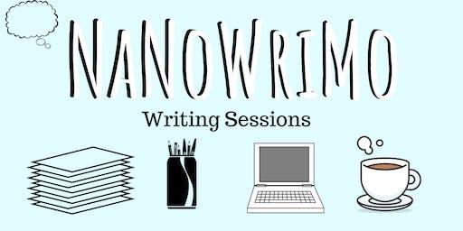 NaNoWriMo Writing Session